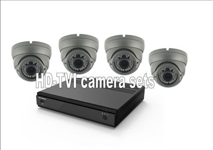 Afbeelding van HD-TVI set met 4 camera's